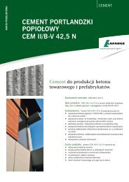 Karta produktowa cementu CEM II B-V 42,5 N - Lafarge
