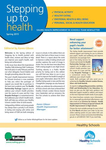 Stepping up to health newsletter edition 24 sping 2015