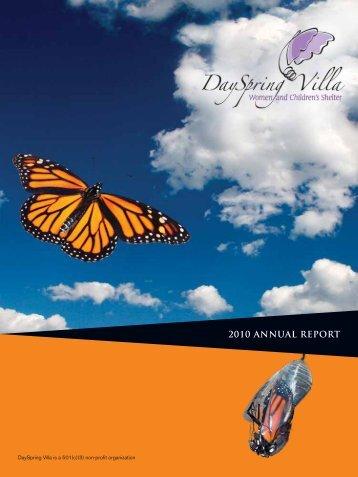 2010 ANNUAL REPORT - DaySpring Villa