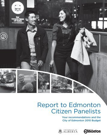 Report to Edmonton Citizen Panelists - City of Edmonton