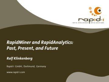 RapidMiner - Open Source Data Mining Software ... - Open Source BI