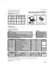 IRLML0030TRPbF Product Data sheet - Beriled
