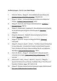 Veröffentlichungen – Prof. Dr. med. Ralph Mösges 1. Kremer B ...