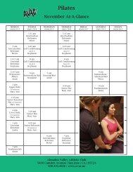 Pilates - Almaden Valley Athletic Club