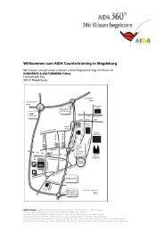 Willkommen zum AIDA Countertraining in Magdeburg - AIDA Cruises