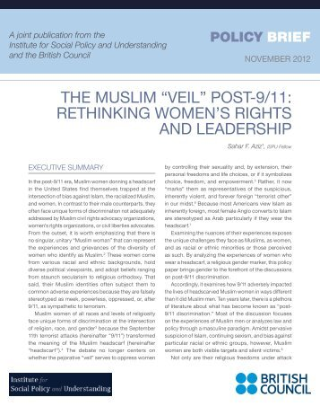 """ThE MuSlIM """"VEIl"""" PoST-9/11 - Institute for Social Policy and ..."""