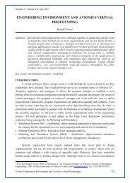 engineering environment and avionics virtual prototyping - Perner's ...