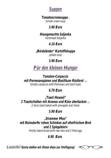 Für den kleinen Hunger - Urlaub Lutherstadt Wittenberg