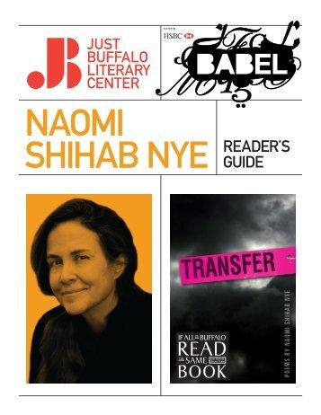 Naomi Shihab Nye - Just Buffalo Literary Center