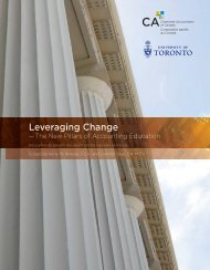 Leveraging Change - Canadian Institute of Chartered Accountants