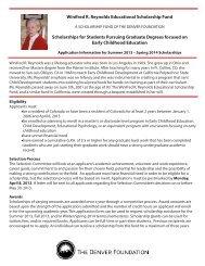 Winifred R. Reynolds Educational Scholarship Fund Scholarships ...