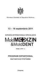 Programul desfasurat al Conferintei - Ministerul Sănătăţii