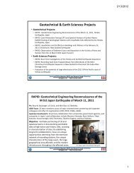 Geotechnical & Earth Sciences Projects - Earthquake Engineering ...