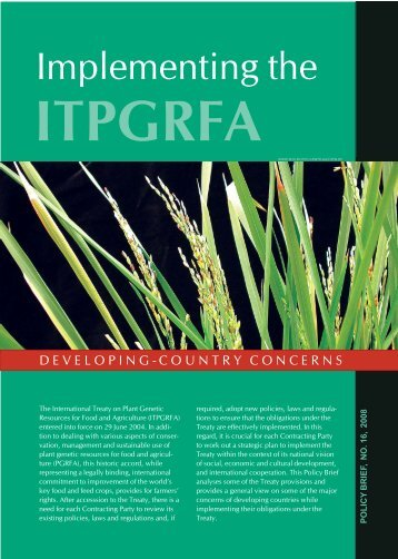 itpgrfa - Farmers' Rights website