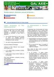 Lettre d'information de l'Unité Nationale d ... - Réseau Leader