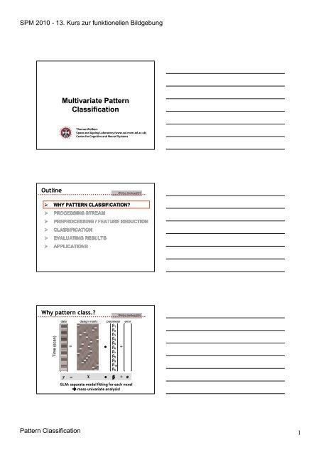 Multivariate Pattern Classification