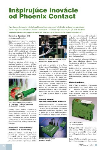 Inšpirujúce inovácie od Phoenix Contact - ATP Journal