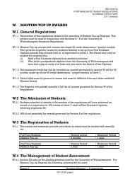 W. MASTERS TOP UP AWARDS W.1 General Regulations W.2 The ...