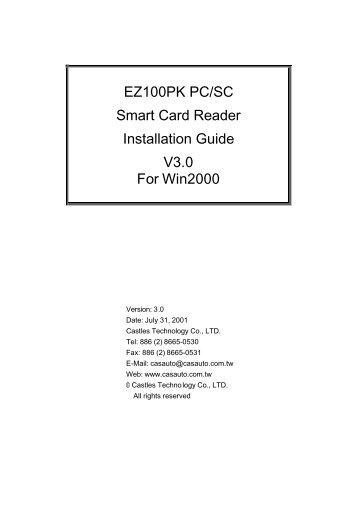 EZ100PK PC/SC Smart Card Reader Installation ... - ePerolehan