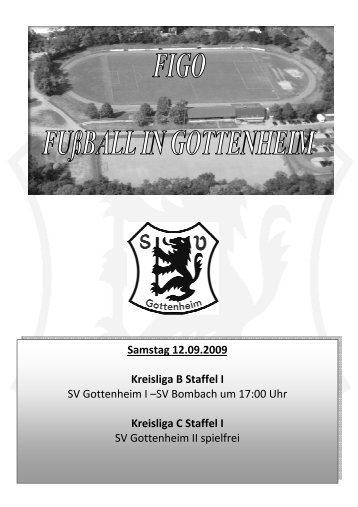Nr. 3 SVG - SV Bombach 12.09.2009 - SV Gottenheim