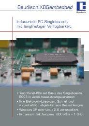 Broschüre X86 embedded - Baudisch Electronic GmbH