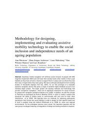 Methodology for designing, implementing and evaluating assistive ...