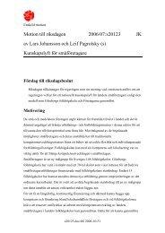 Motion till riksdagen 2006/07:s20123 JK av Lars Johansson och Leif ...