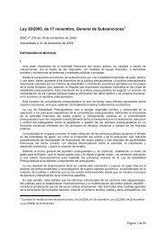 Ley 38/2003, de 17 novembro, General de Subvenciones