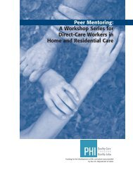 Peer Mentoring: A Workshop Series for Direct-Care Workers in ... - PHI