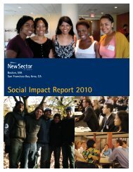 2010 Social Impact Report - New Sector Alliance