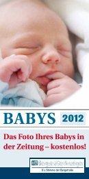 Das Foto Ihres Babys in der Zeitung – kostenlos!