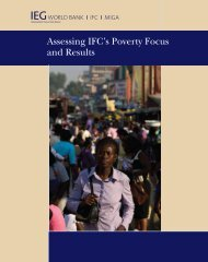 Assessing IFC's Poverty Focus and Results - Independent ...