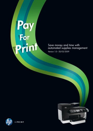 Save money and time with automated supplies management - HP