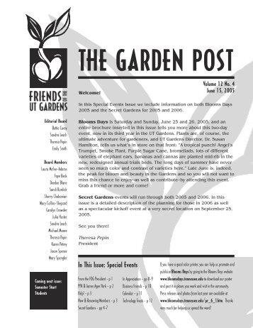 June - UT Gardens
