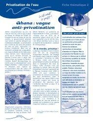 Privatisation de l'eau - Holy Cross International Justice Office