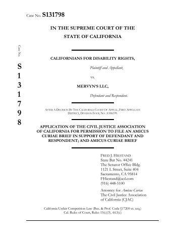 Amicus Curiae Brief of CJAC