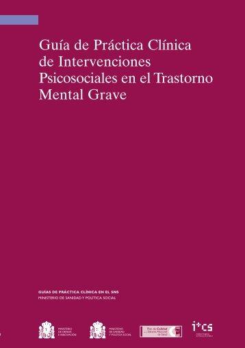 GPC sobre Trastorno Mental Grave - GuíaSalud