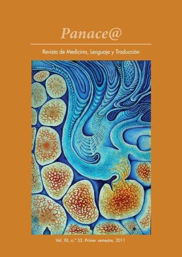 Panace@ Revista de Medicina y Traducción - Tremédica