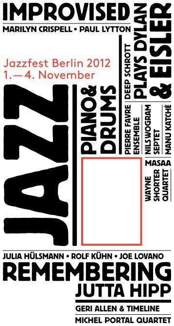 Flyer Jazzfest Berlin 2012 [PDF] - Berliner Festspiele