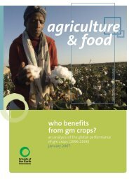 who benefits from GM crops? - Friends of the Earth International