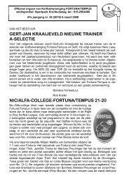 1 gert-jan kraaijeveld nieuwe trainer a-selectie nic/alfa ... - Fortuna
