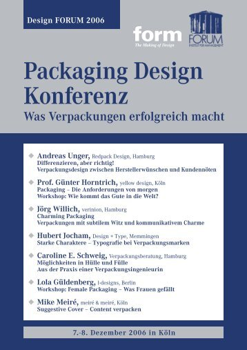Packaging Design Konferenz
