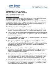 ADMINISTRATIVE RULE NO: D011 - LBCC Paperless Office - Linn ...