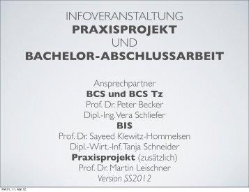 Praxisprojekt - Fachbereich Informatik - Hochschule Bonn-Rhein-Sieg