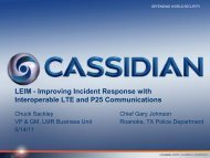 Improving Incident Response with Interoperable LTE and P25 ...