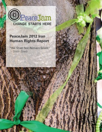 2012 Iran Human Rights Report - Peace Jam