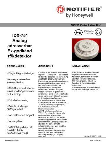IDX751 - Notifier