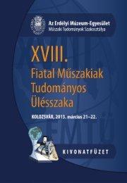 A XVIII. FMTÜ (2013) programfüzete itt tölthető le