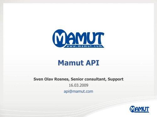 Mamut API