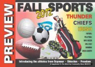 Fall Sports Preview 2012 - Advertiser Community News
